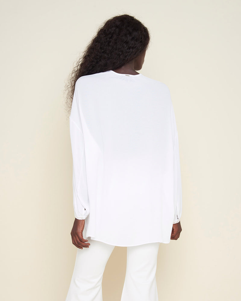 Blouse with longer back