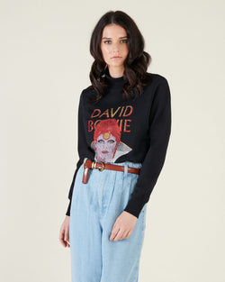 David Bowie printed sweater