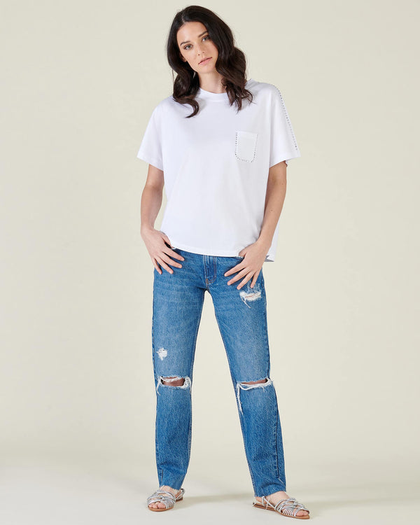 T-shirt with studs