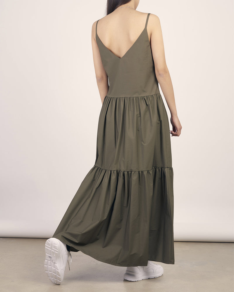 Cotton dress with thin straps