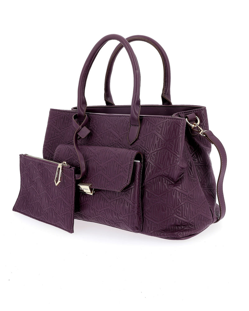 High texture bag with flap pocket