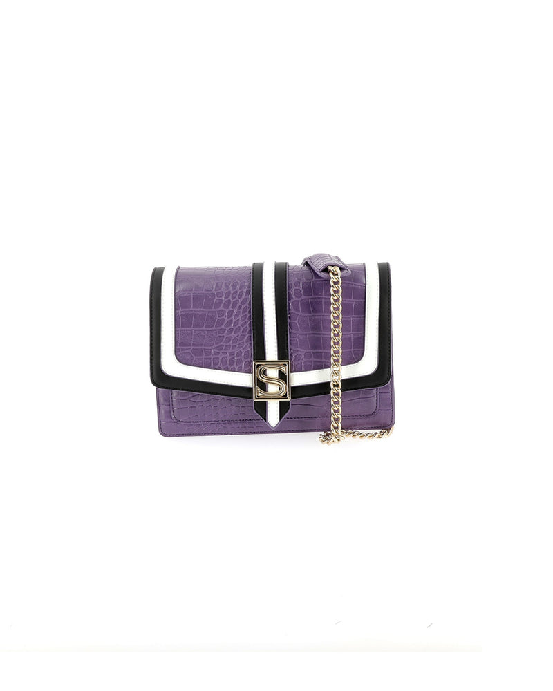 Clutch with contrasting refinements