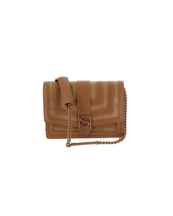 Double texture clutch with chain