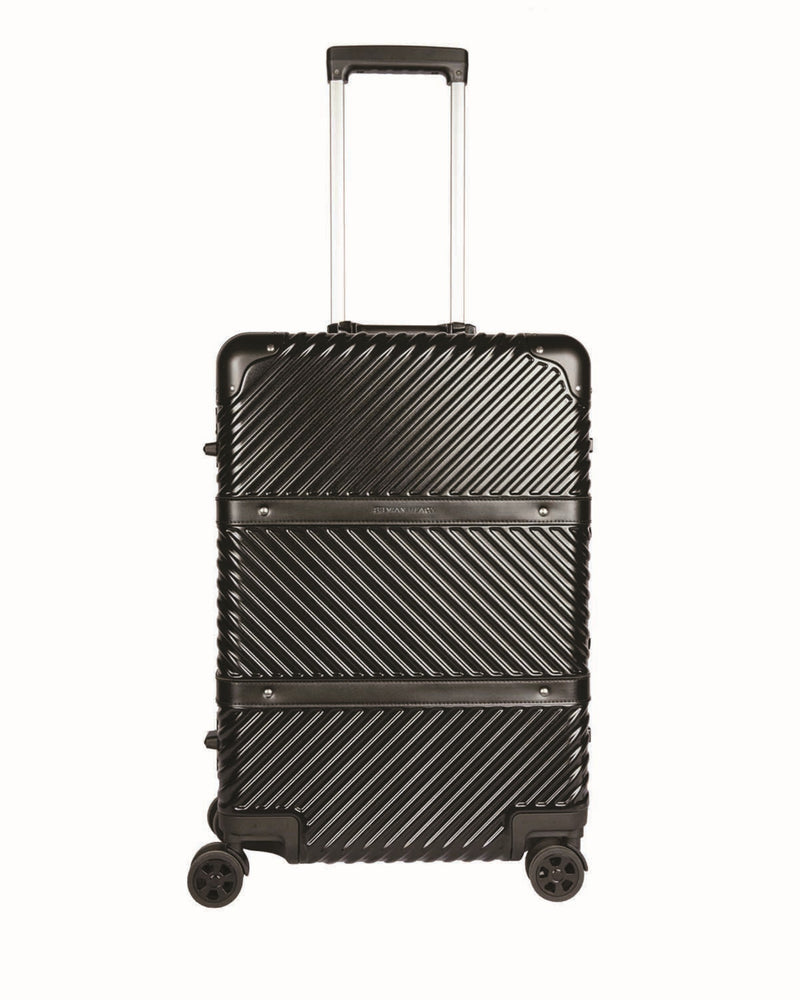 Double unit rigid suitcase