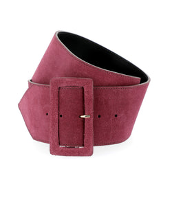 Wide suede belt