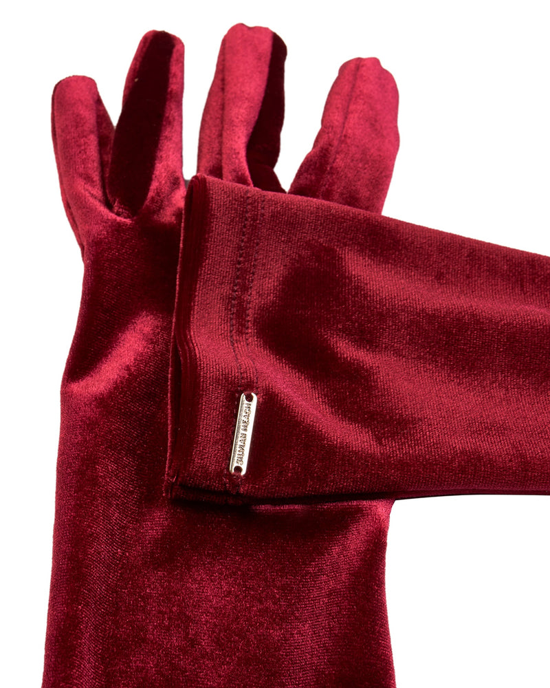 Long velvet gloves