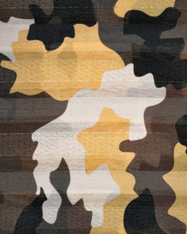 Long camouflage scarf