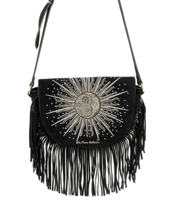 Shoulder bag with fringes