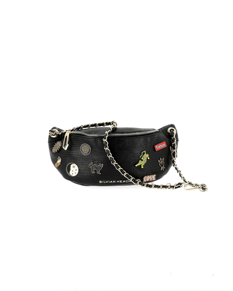 Fanny pack with brooches