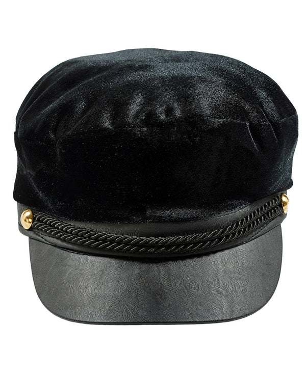 Velvet hat with visor