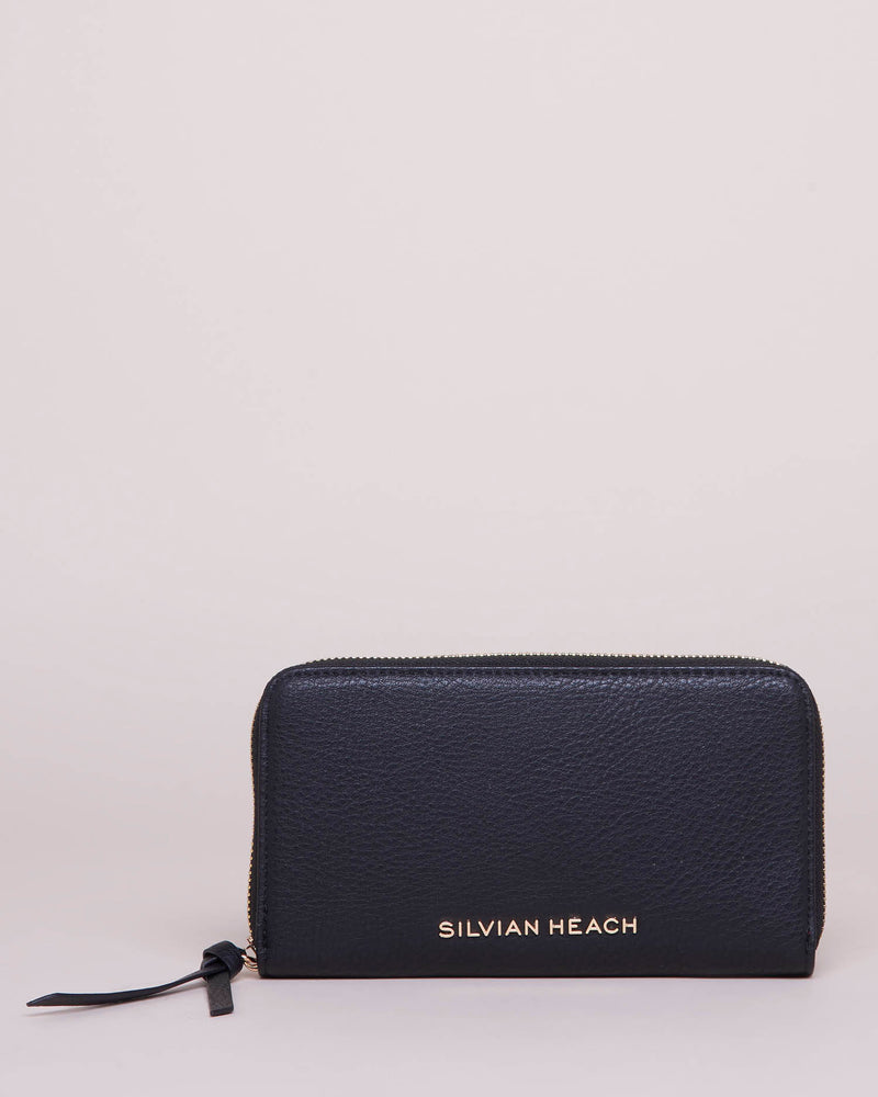 Wallet with outer zip closure