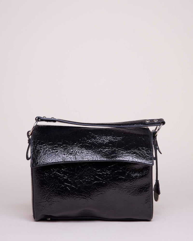 Shiny small shoulder bag