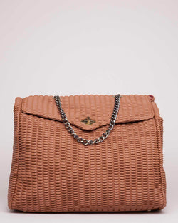 Tote bag honeycomb effect