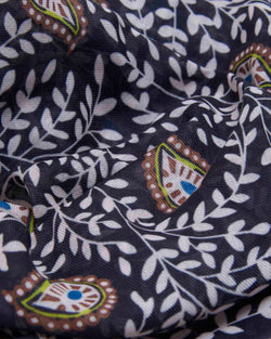 Leaves pattern foulard