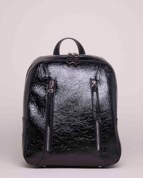 BACKPACK WITH FRONTAL ZIPPER