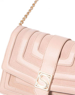 Shoulder bag double texture