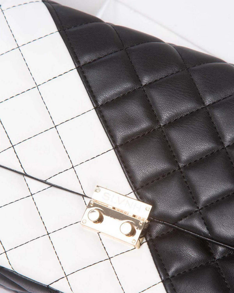 Quilted clutch DAIANA TWO