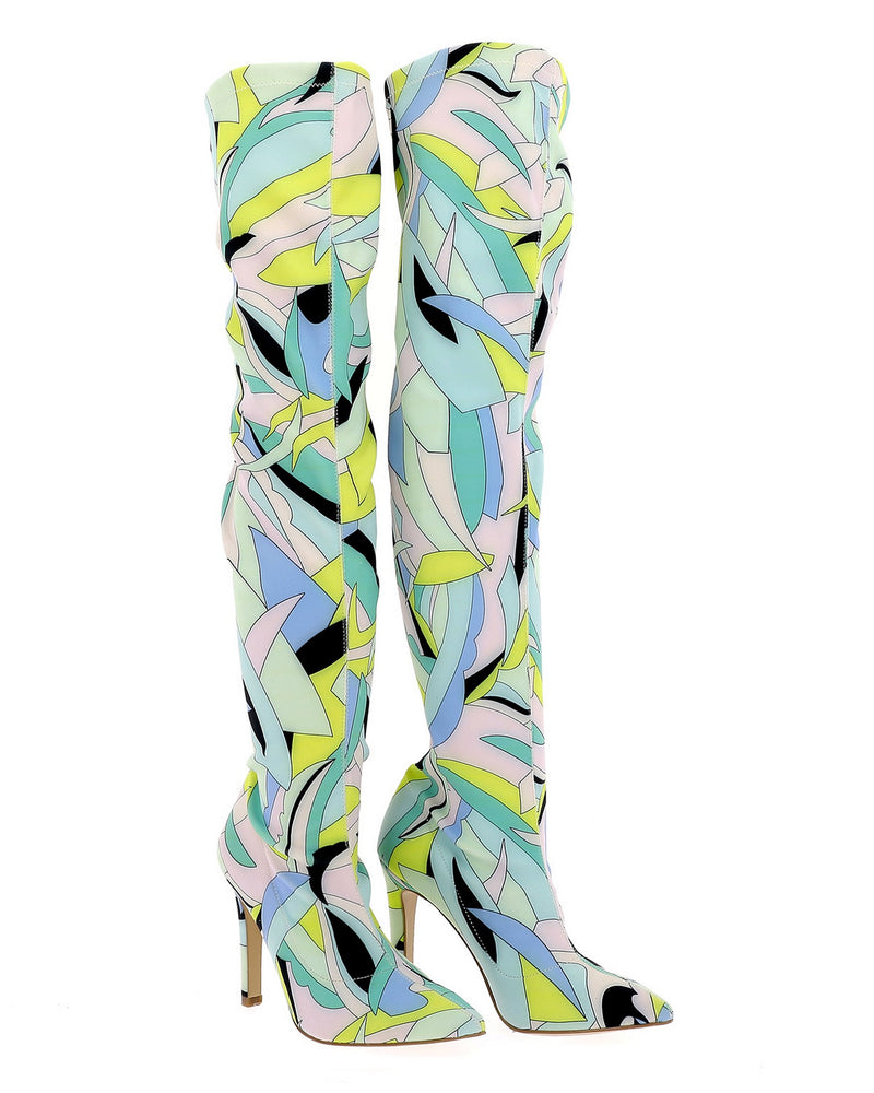 Art deco knee-boots FANTASY