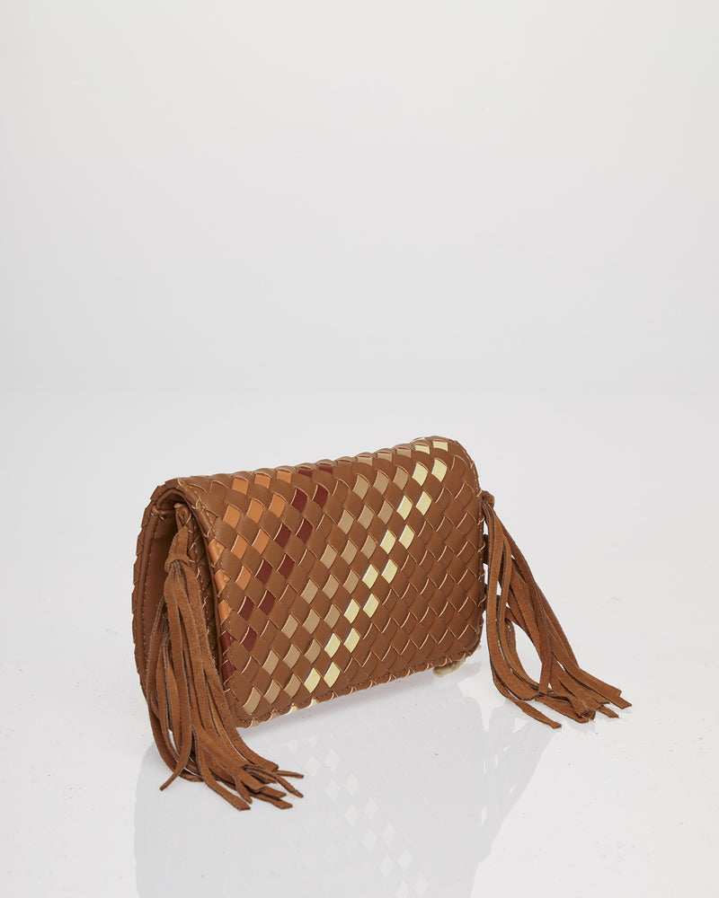 Bag with belt and fringes