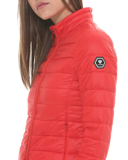 Short down jacket with coulisse