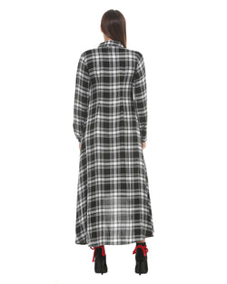 Shirt check dress