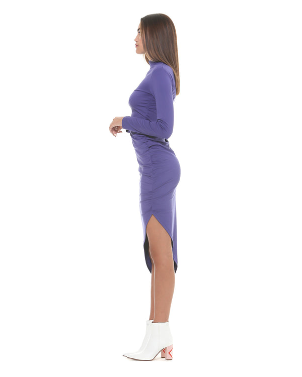 Dress with asymmetrical bottom