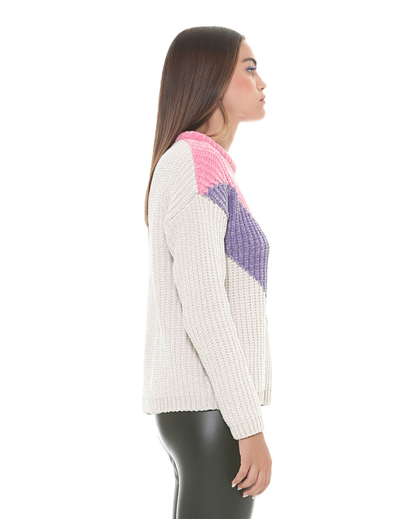 Funnel neck sweater