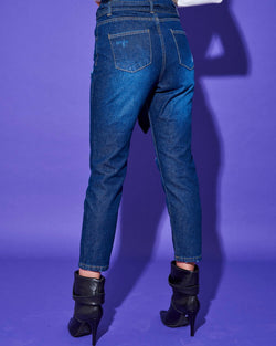 HIGH WAIST JEANS WITH STRAIGHT LEG