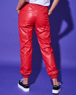 ECOLEATHER JOGGER PANTS