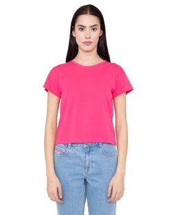 Cropped solid color t-shirt CHANCY
