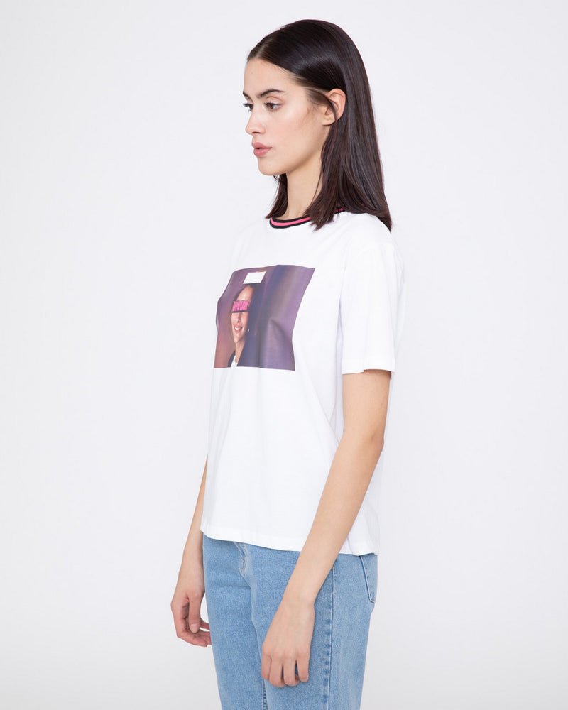 T-shirt with contrasting round neck RENINGE