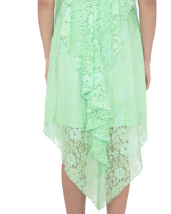 Asymmetrical dress in lace EDNA