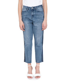 Jeans with strass outlines CABAIGUAN