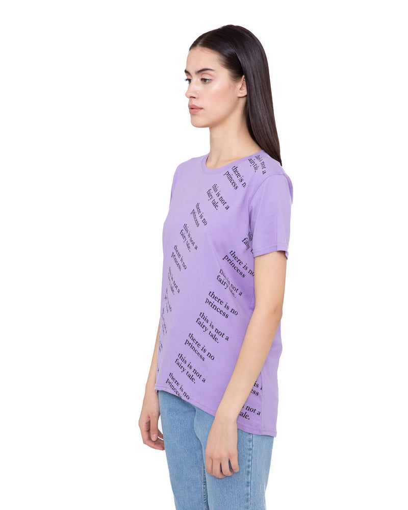 T-shirt with printed lettering DINAN