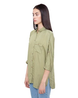 Blouse satin effect TELLER