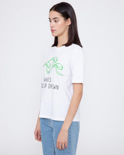 T-shirt with embroidered letters REYES