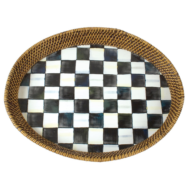 Large Rattan Tray