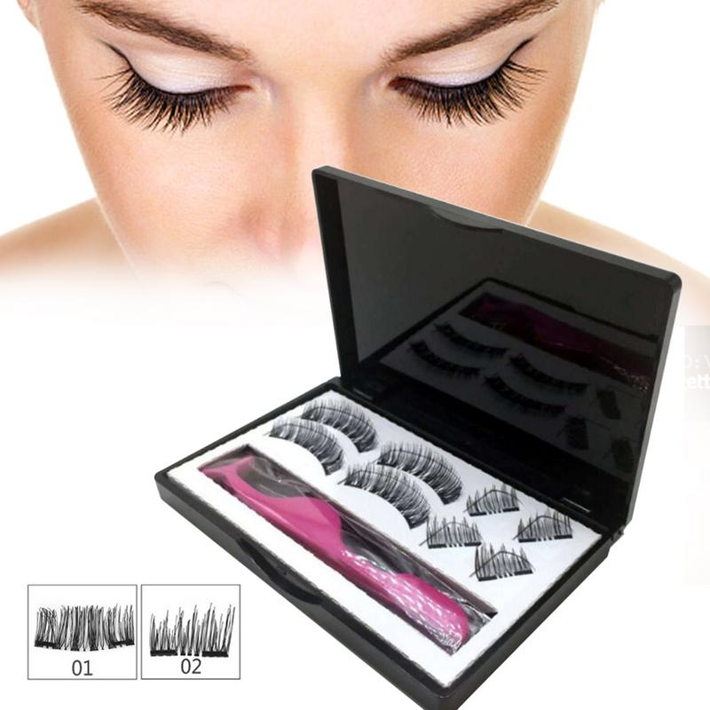 a3654ae6380 3D magnetic false eyelashes with gift box and application tool ...