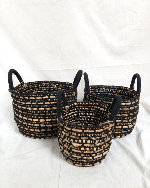 DALINA Banana Weaved Multifunctional Storage Basket