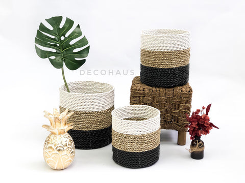 LIO Seagrass Woven Multi Functional Storage Basket