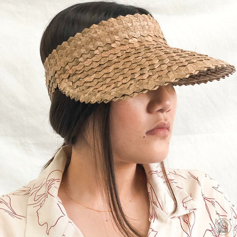 AKYLA Weaved Beach Straw Visor