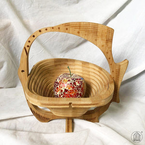 KIKAN Collapsible Wooden Basket