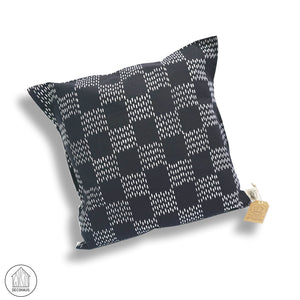 RINTIK HUJAN Handstamp Batik Cushion Cover in Black