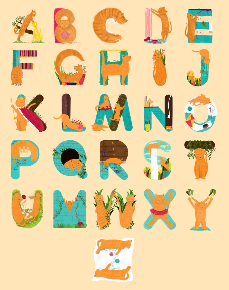 An Artist Dedicated 36 Days Of Type To Cats