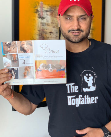 Harbhajan Singh wearing DogFather t-shirt