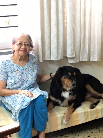 Caesar with grandmom