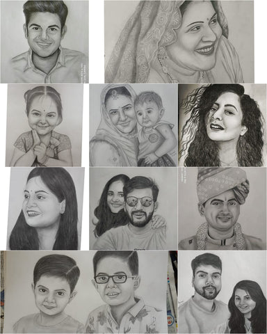 pencil sketch art of human faces