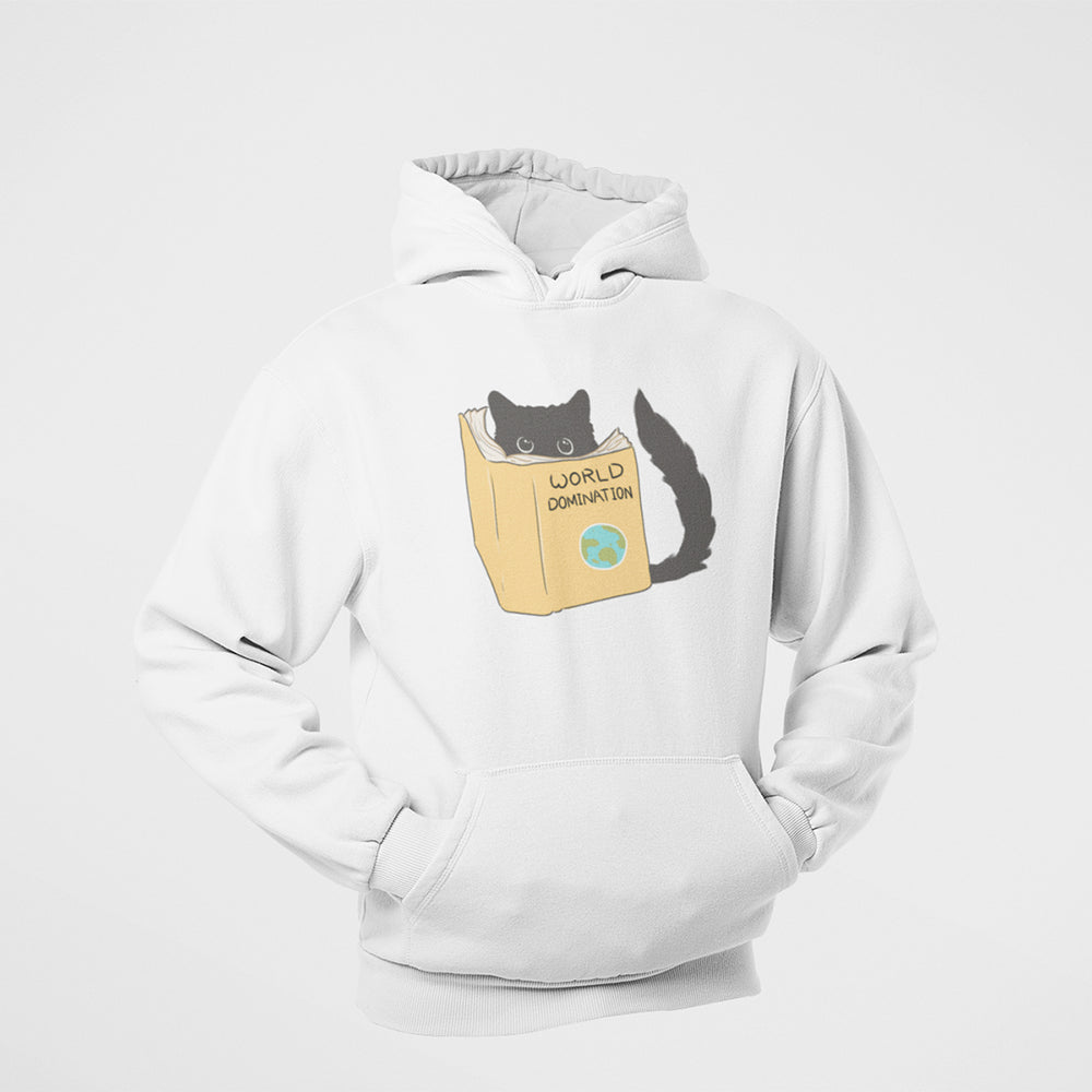 Floof cat world domination cotton hoodie for cat lovers