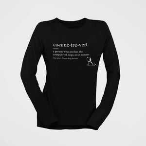 caninetrovert cotton t-shirt for dog lovers