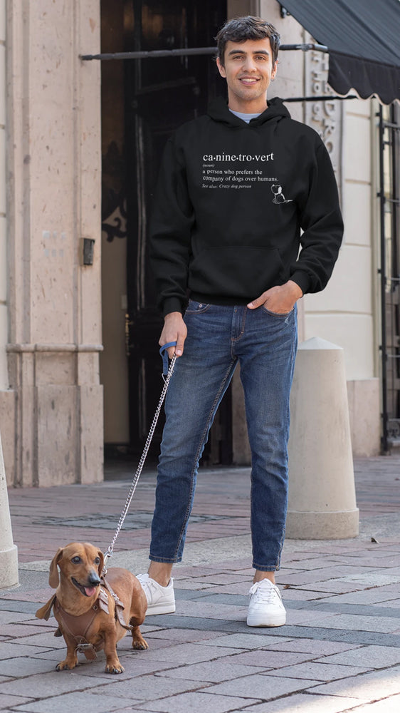 caninetrovert cotton hoodie for dog lovers